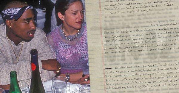 Tupac reveló en una carta por qué dejó a Madonna