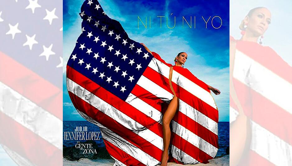 Jennifer López genera polémica por foto con bandera de Estados Unidos