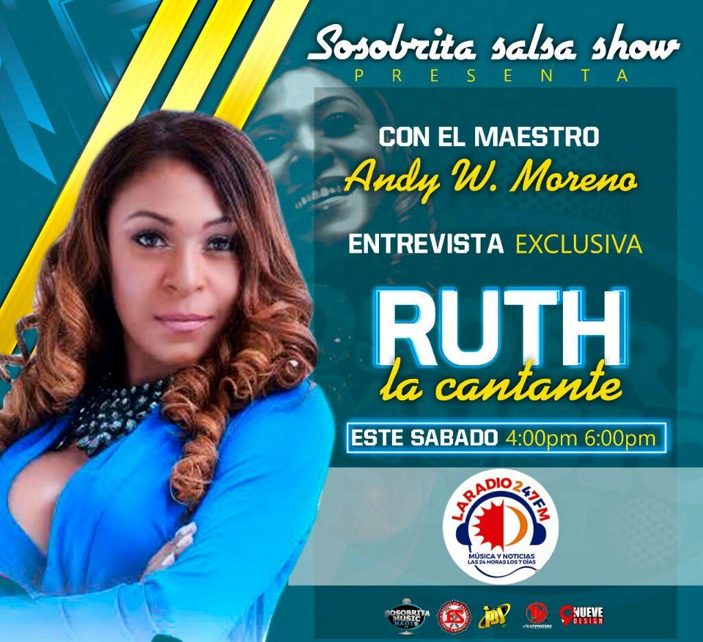 RUTH LA CANTANTE A LAS 4 DE LA TARDE CON EL MAESTRO ANDY WILSON MORENO NO DEJES QUE TE CUENTEN  SOSOBRITA SALSA SHOW