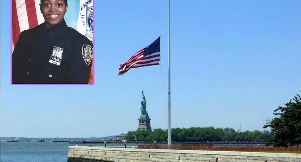 Banderas a media asta en NY en memoria de policía asesinada NUEVA YORK TA DUROOOO