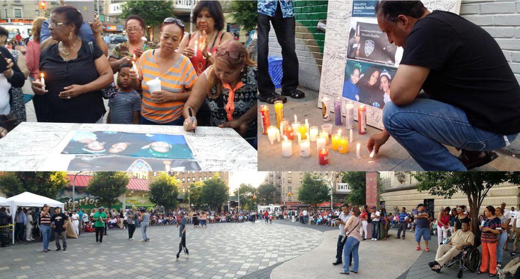 Dominicanos honran a Miosotis en Alto Manhattan con vigilia