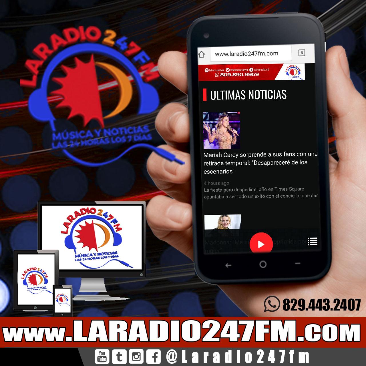 ENTRA WWW.LARADIO247FM.COM TU EMISORA  PARA Q ESCUCHES LA MEJOR PROGRAMACION TROPICAL URBANA