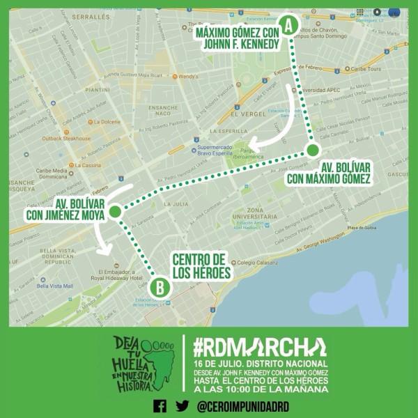 Anuncian recorrido de la Marcha Verde TODOS VAMOS APOYAR LA MARCHA VERDE EN CONTRA DE LA IMPUNIDAD Y CORRUPCION