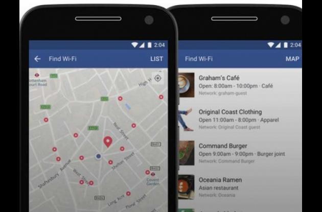 Nueva función de Facebook para encontrar redes Wi-fi gratis