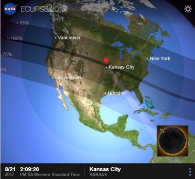 Estados Unidos verá un raro eclipse total del sol de costa a costa
