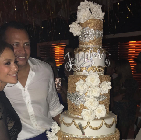 JLo. y Alex Rodríguez celebran su cumpleaños?
