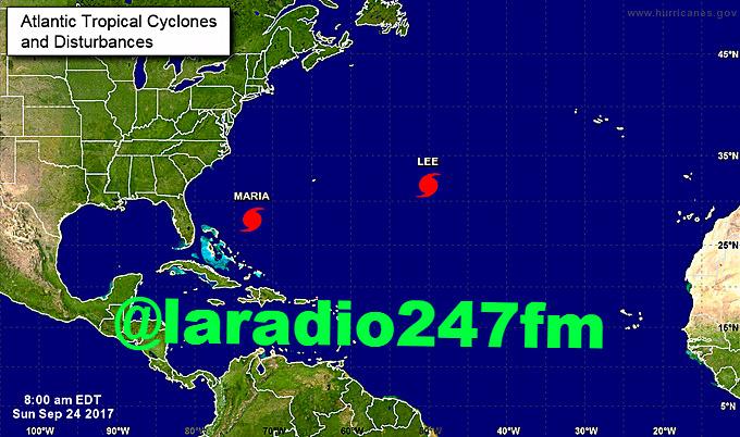 Lee ya es huracán de categoría 1 y María baja a categoría 2
