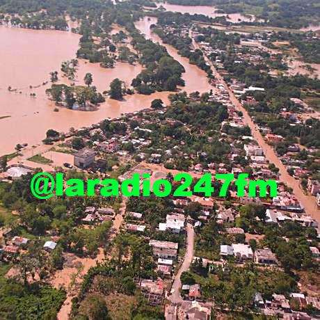 El Yuna se desborda, incomunica 10 comunidades e imposibilita tránsito Santo Domingo-Samaná