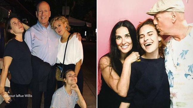 Bruce Willis y Demi Moore se reúnen en el cumple de su hija Rumer