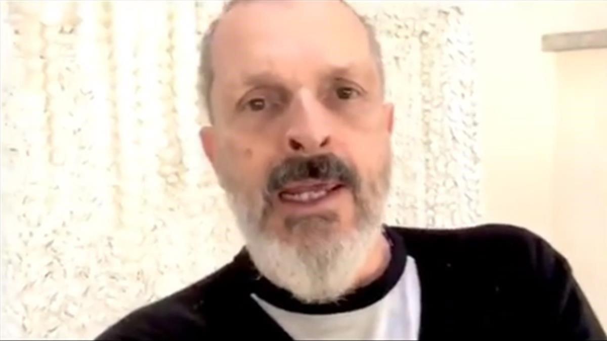 """Un desmejorado Miguel Bosé presume de un """"espléndido 2018"""""""