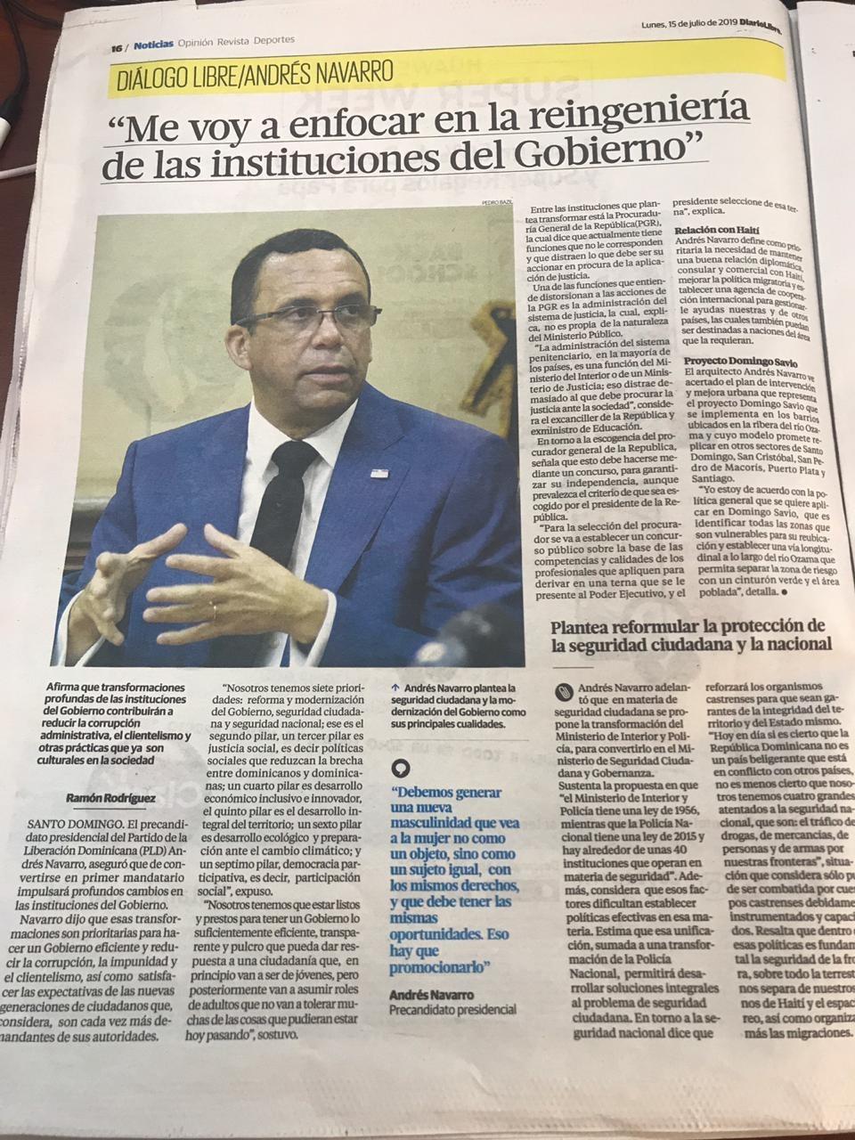 Andres Navarro Llego la hora del Relevo Politico en Rep Dom. 2