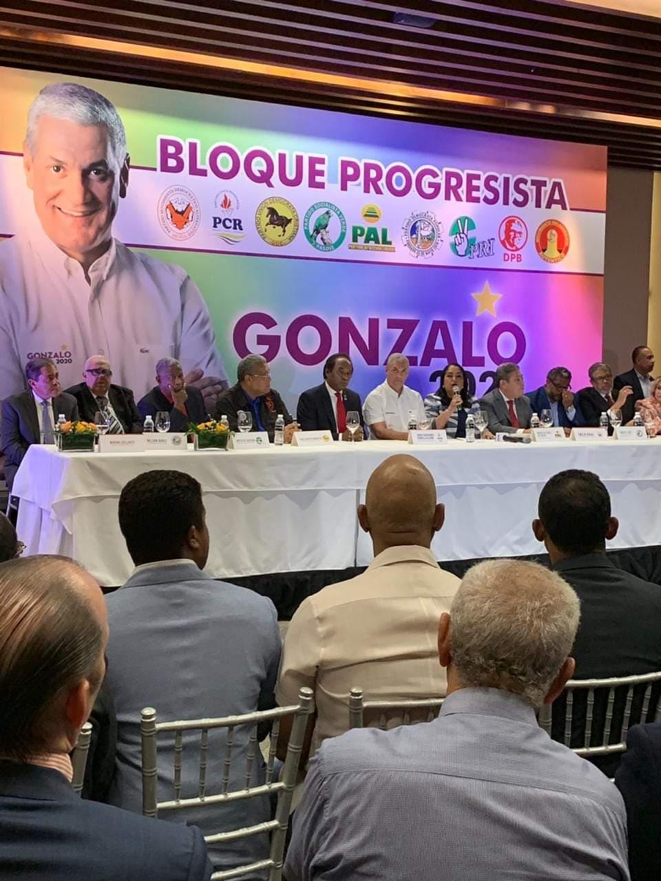 7 Partidos del BLOQUE PROGRESISTA darán apoyo a Gonzalo Castillo (@Gonzalo2020RD) para que sea el candidato el 6 de octubre (#6O).