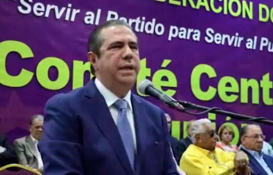 """Francisco Javier asegura """"la gran maquinaria del PLD"""" apoya a Gonzalo Castillo"""