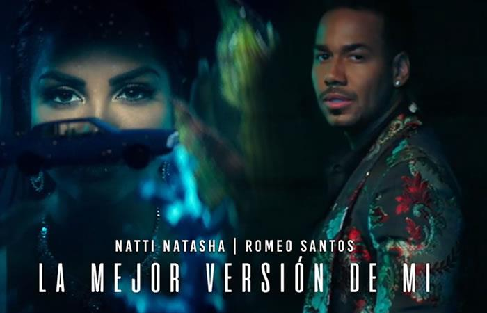 """Natti Natasha y Romeo Santos juntos en """"La mejor versión de mi remix"""""""