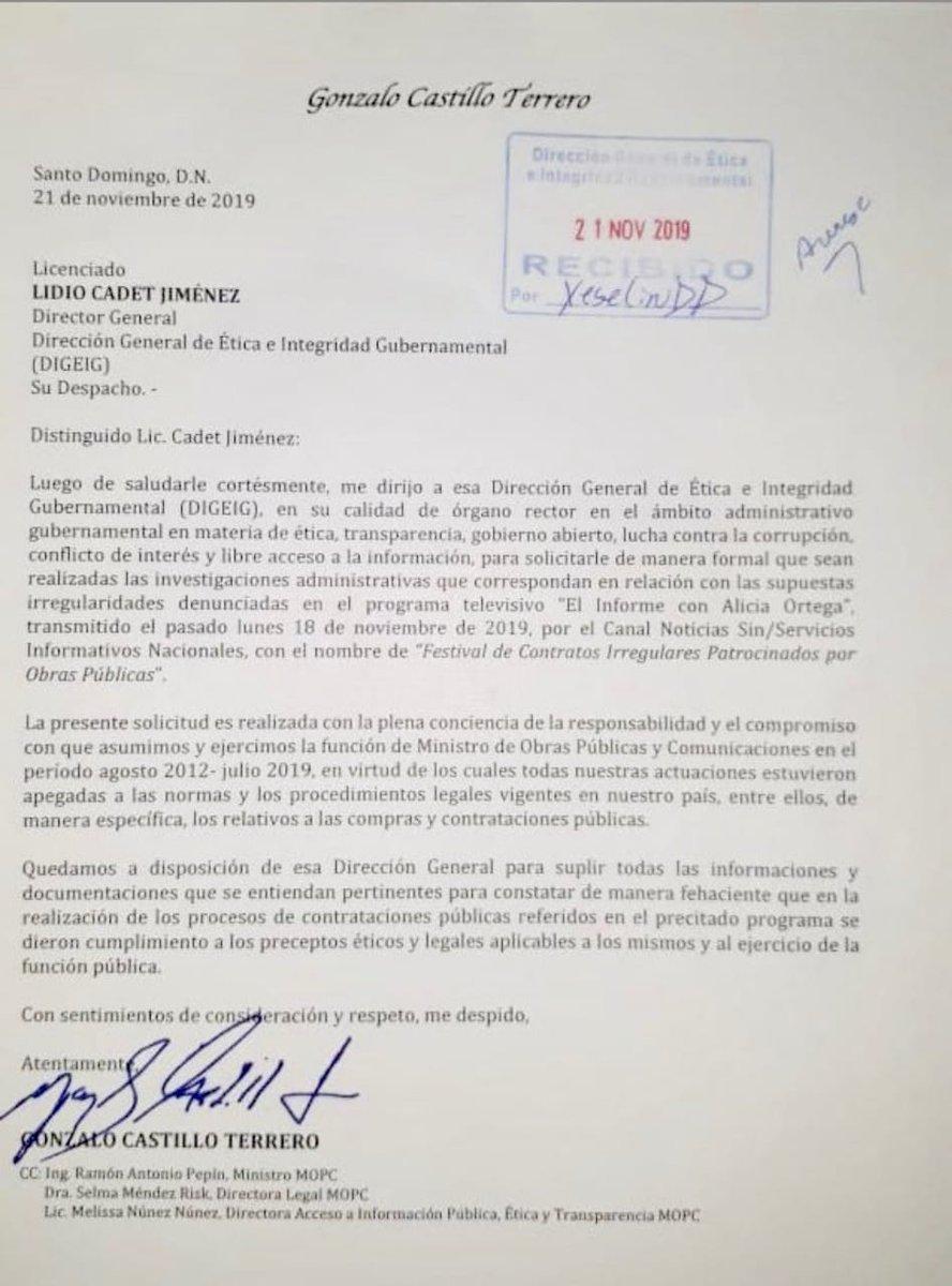 Gonzalo Castillo pide a Ética que lo investigue sobre presuntos contrato...NOTICIARIO DIGITAL #LARADIO247FM