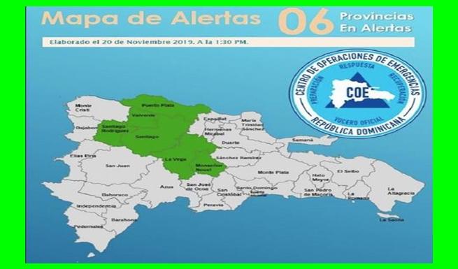 COE emite alerta verde a seis provincias por un sistema frontal NOTICIARIO DIGITAL #LARADIO2427FM