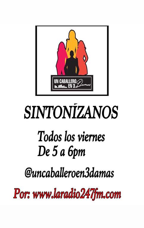 UN CABALLERO EN3 DAMAS BLOQUE 3 23 NOV #LARADIO247FM https://youtu.be/paMX2QQp7X0