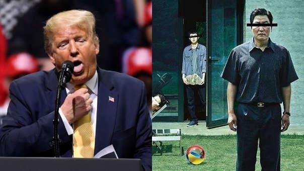 """A Trump no le gustó que """"Parasite"""", un filme de Corea del Sur, ganara el Oscar a la mejor película"""