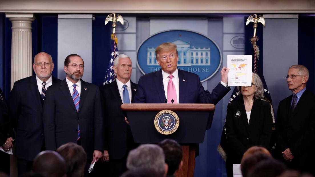 """Trump afirmó que EEUU está listo para adaptarse a una expansión del coronavirus: """"El riesgo sigue siendo muy bajo"""""""