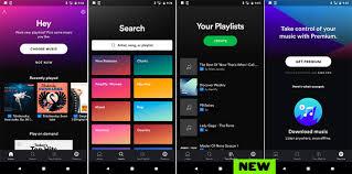 Spotify cambió el diseño de la interfaz en su aplicación móvil
